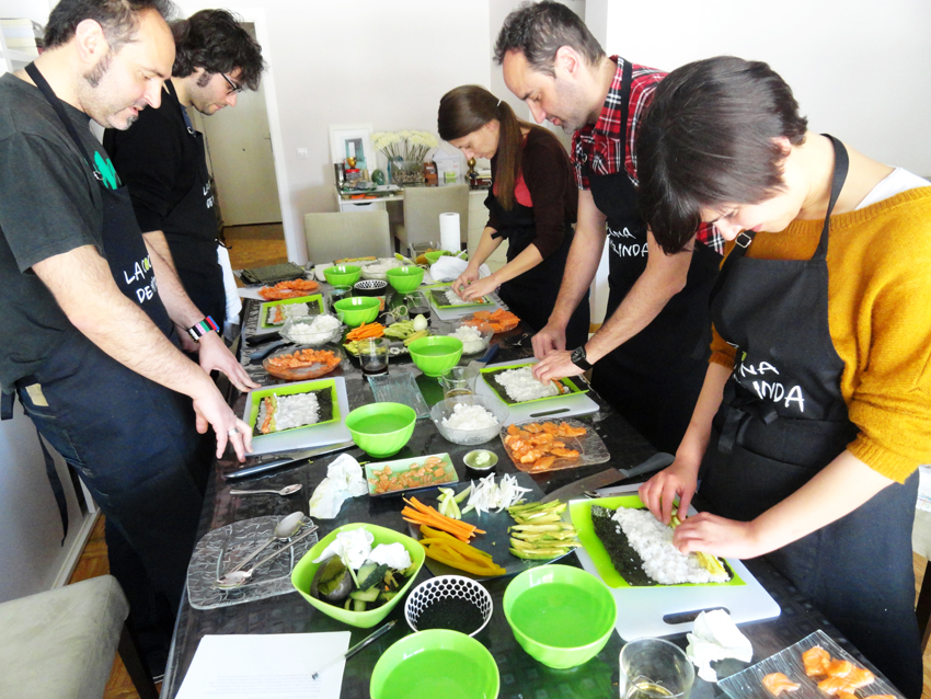 sushi cooking party