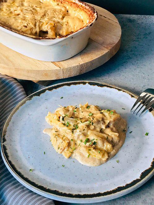 Patatas gratinadas con boletus y trufa